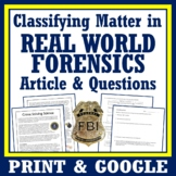 Classifying Matter Activity Mixtures Worksheet Forensic Science
