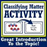 Inquiry-Based Classifying Matter Activity Pure Substance &