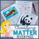 Classifying Matter Coloring and Puzzle Review - Editable!