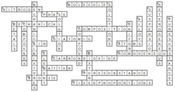 Classifying Matter - Crossword {Editable} by Tangstar ...