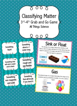 Classifying Matter Grab and Go Game
