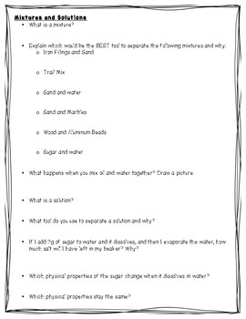 Classifying Matter Study Guide-Science TEKS 5.5A, 5.5B, 5.5C, 5.5D STAAR Aligned