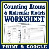 Classifying Matter Worksheet Counting Atoms in Compounds a
