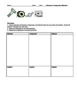 Classifying Matter with Nuts and Bolts