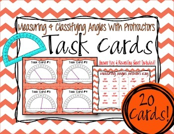 Classifying & Measuring Angles Task Cards