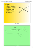 Classifying, Naming & Measuring Angles and using the Angle Addition Postulate