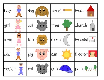Classifying Nouns: Literacy Center