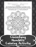 Classifying Numbers - Coloring Activity