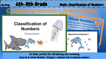 6th Grade Math: Classifying Numbers Presentation (PDF presentation)