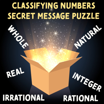 Classifying Numbers Secret Message Puzzle