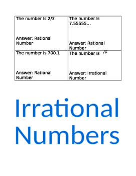 Classifying Numbers in the Real Number System