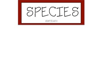 Classifying Organisms Poster
