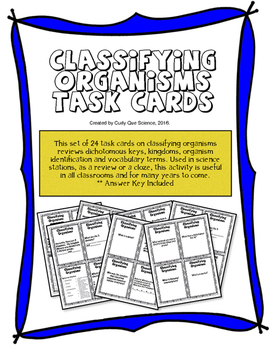 Classifying Organisms Task Cards