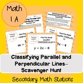 Classifying Parallel and Perpendicular Lines Scavenger Hunt