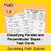 Classifying Parallel and Perpendicular Slopes Task Cards