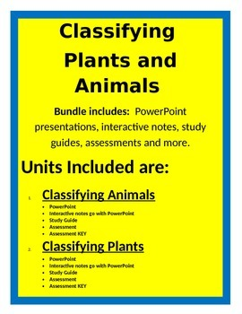 Classifying Plants and Animals - BUNDLE