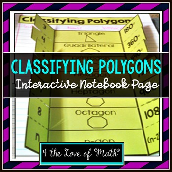Classifying Polygons Interactive Notebook Page