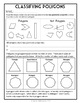 Classifying Polygons, 5th Grade Geometry, 8 page Lesson Packet and Quiz, 5.G.3