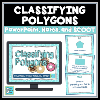 Quadrilaterals and Polygons PowerPoint Lesson, Notes, & Game