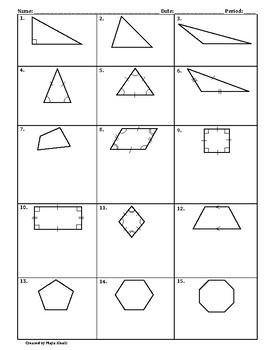 Classifying Polygons Fact Sheet   Teaching the Lesson by ...