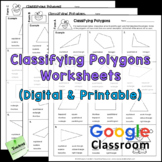 Classifying Polygons Worksheets or Tests | Printable and D