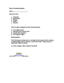 Classifying Polygons Quiz