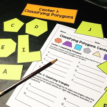 Classifying Polygons Centers