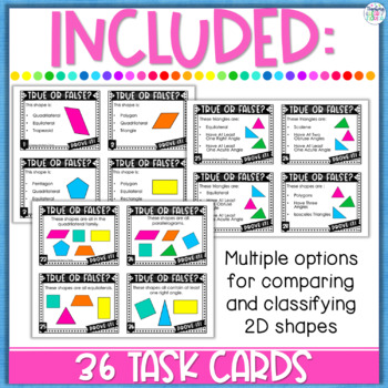 Classifying Polygons Task Cards - Error Analysis