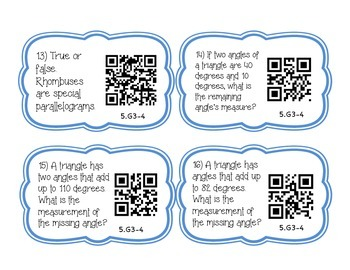Classifying Polygons Task Cards with QR Codes