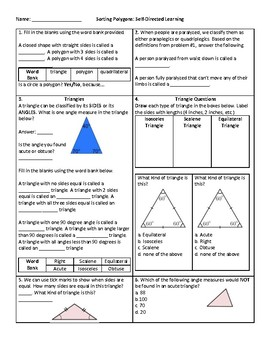 Classifying Polygons (Triangles & Quadrilaterals)