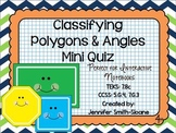 Classifying Polygons and Angles Mini Quiz for Interactive Notebook