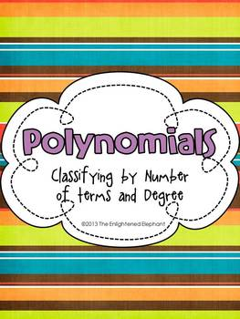 Worksheets Classifying Polynomials Worksheet classifying polynomials car by the enlightened elephant card sorting and practice activities