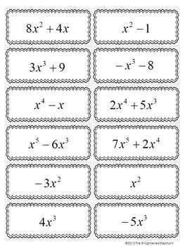 Worksheet Clifying Polynomials Math Plane Introduction To Notes And Exles 2