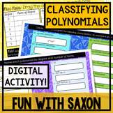 Classifying Polynomials GOOGLE DRIVE ACTIVITY!