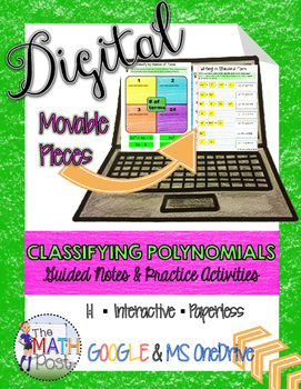 Classifying Polynomials Guided Notes and Practice Activiti