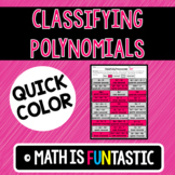Classifying Polynomials Quick Color