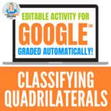 Classifying Quadrilaterals Activity for Google Drive
