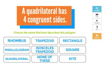 Classifying Quadrilaterals Boom Cards