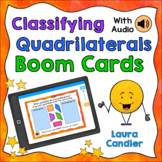 Classifying Quadrilaterals Boom Cards (with Audio Read-alo