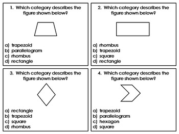 Classifying Quadrilaterals:  CCSS Aligned:  3.G.1, 4.G.2, 5.G.3, 5.G.4