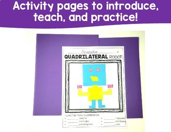 Classifying Quadrilaterals Printables and Games
