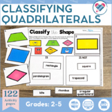 Classifying Quadrilaterals Printables and Games DISTANCE LEARNING