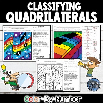 Classifying Quadrilaterals - Color by Number