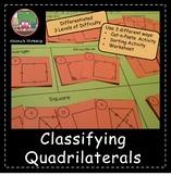 Classifying Quadrilaterals Sort - Differentiated