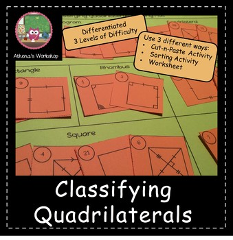 Classifying Quadrilaterals Sort - Differentiated