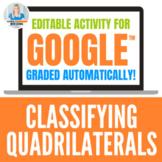 Classifying Quadrilaterals Digital Activity for Google Drive™