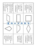 Classifying Quadrilaterals - Foldable, Notes Template, and
