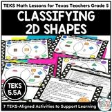 Classifying Quadrilaterals Graphic Organizer | TEKS Math Activities