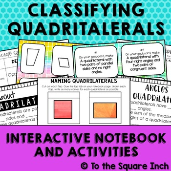 Classifying Quadrilaterals Interactive Math Notebook