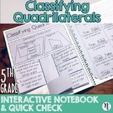 Classifying Quadrilaterals Interactive Notebook Activity &